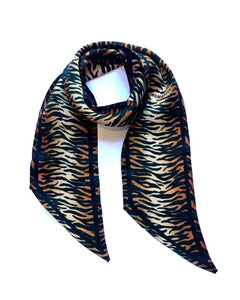 Tiger Silk Neck Scarf
