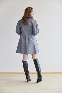 Freya Dress in Pewter back