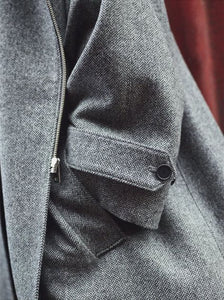 Amaury Coat in Herringbone detail