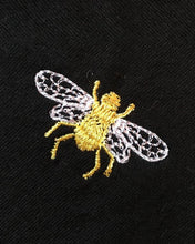 Load image into Gallery viewer, short sleeved Embroidered White Bee T-shirt, by Ingmarson at Natural x Lab