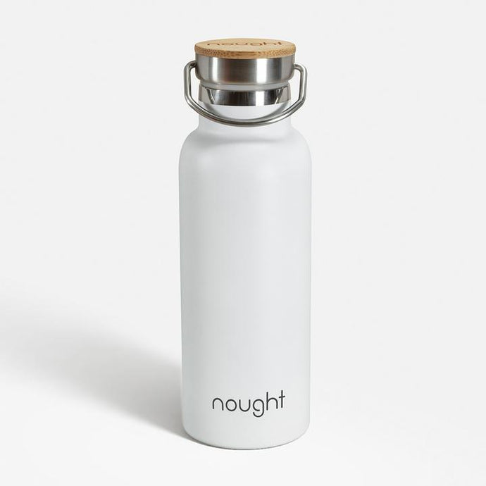 Nought Stainless steel reusable water bottle form Nought.co on Naturalxlab