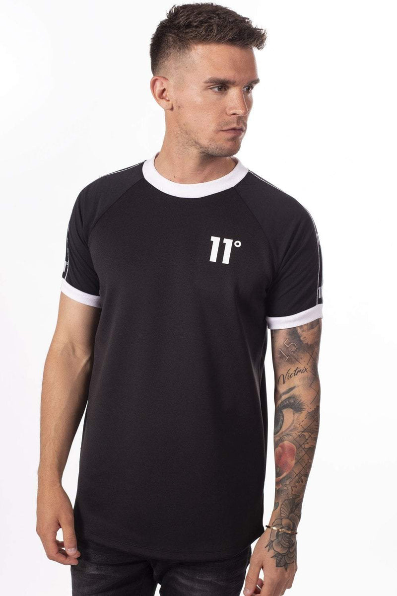 Tape Ringer T-Shirt - Black