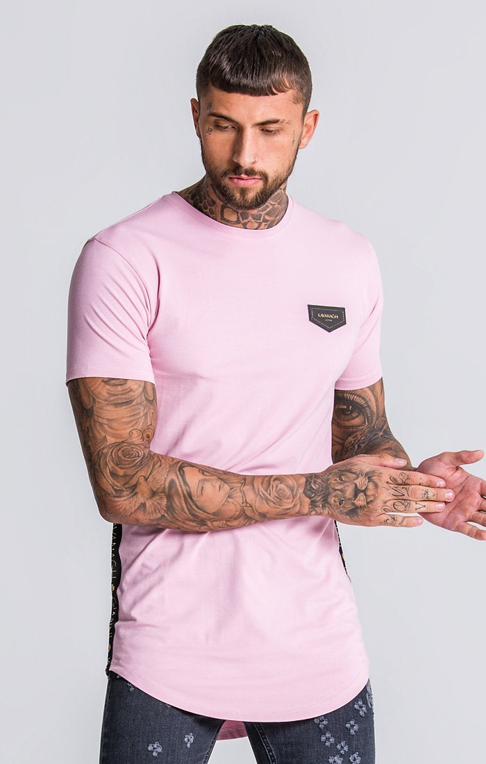 Light Pink Tee With Gold GK Ribbon