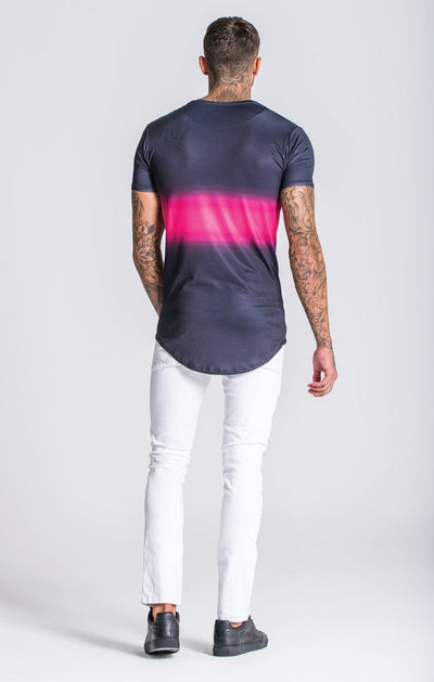 Black/Pink Techno Faded Tee