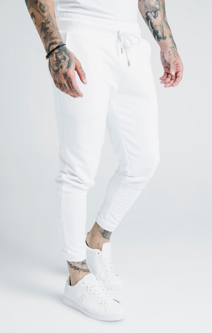 SikSilk x Dani Alves Cuffed Joggers – White