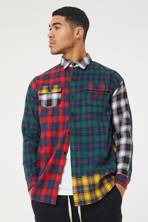 Mixed Check Shirt