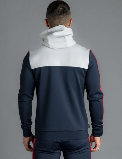 GK Koen Poly Tracksuit Top - Microchip/Navy Nights/Red