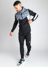 GK Koen Poly Tracksuit Top - Black/Charcoal Marl