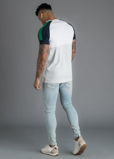 GK Lombardi T-Shirt - White/Microchip/Navy Nights/Green