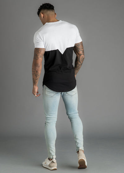 GK Escobar Tee - White/Black/Marl