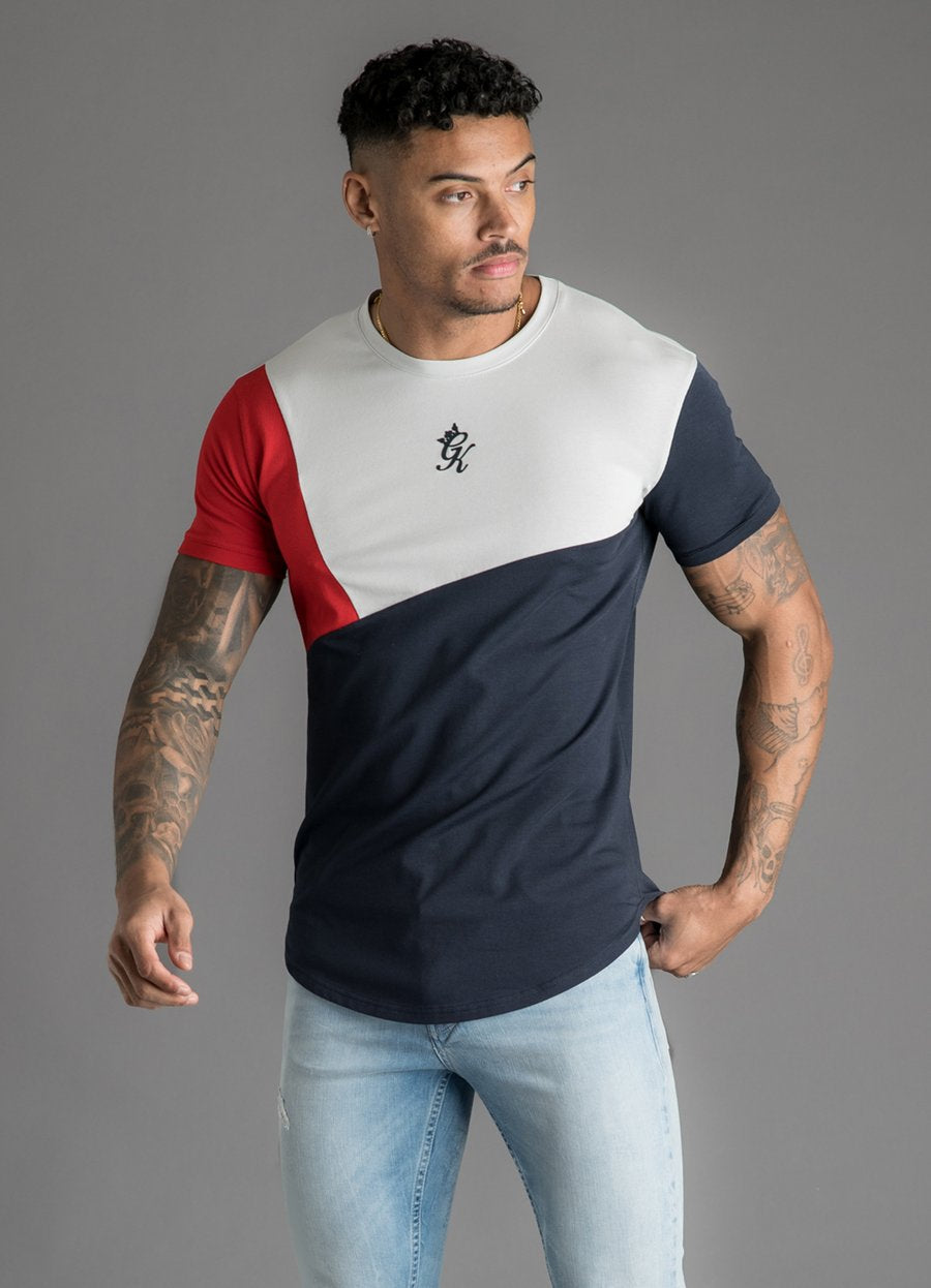 GK Cotroni T-Shirt - Microchip/Navy Nights/Red - Small