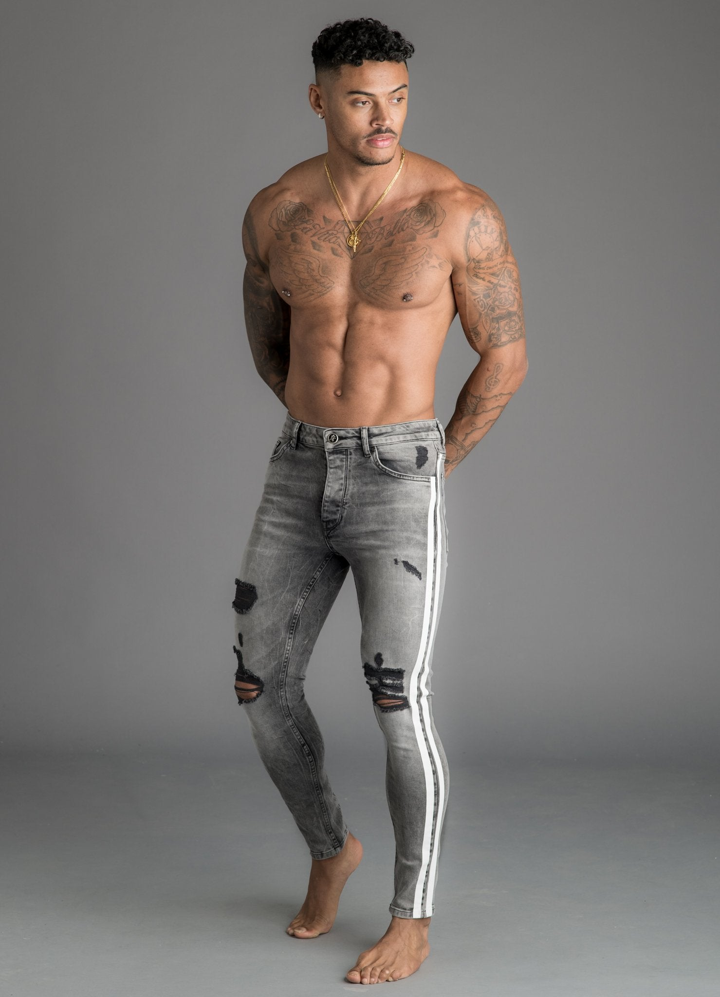 GK Denim Lighting Jeans - Mid Grey
