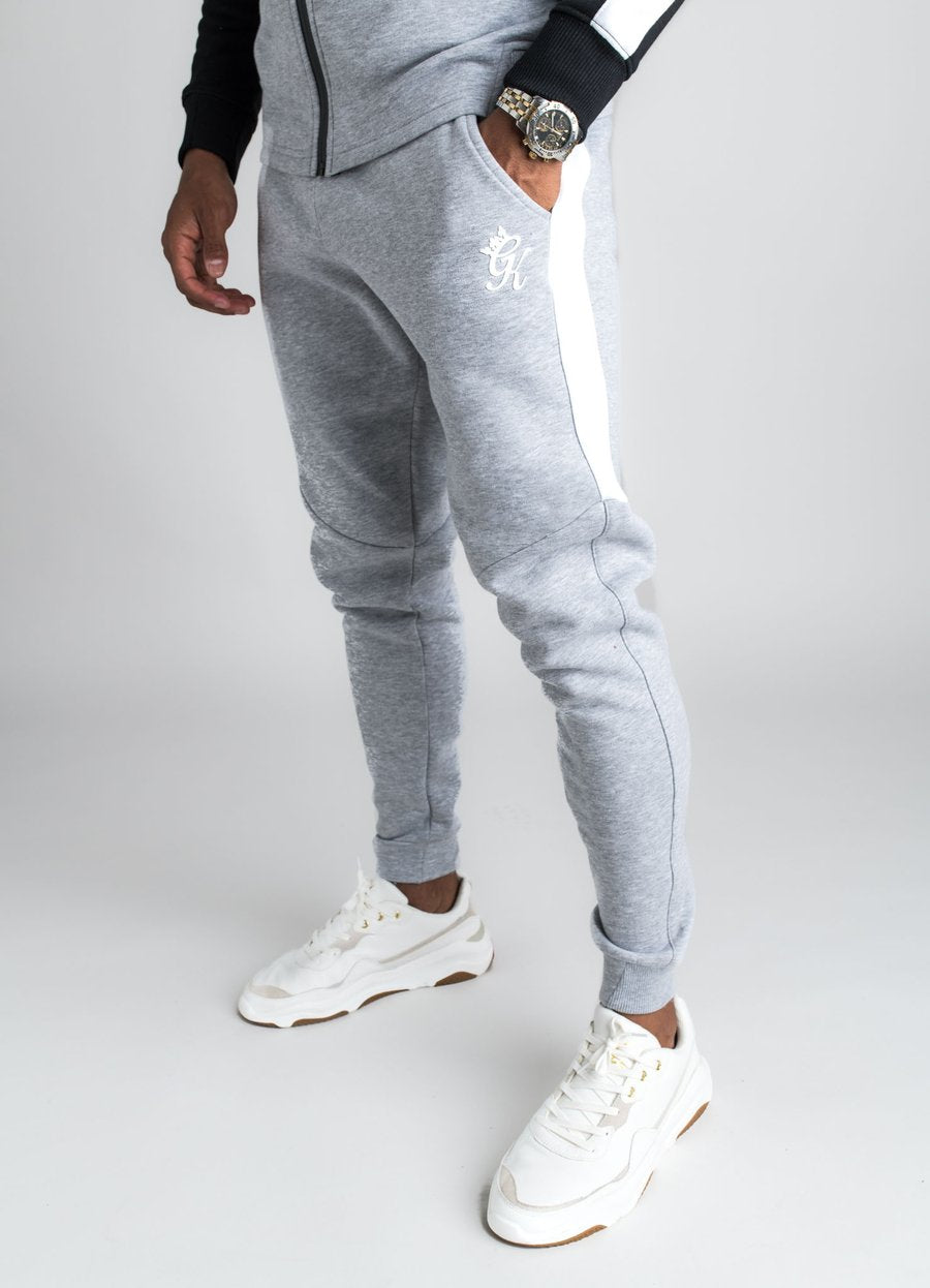 GK Koen Tracksuit Bottom- Grey Marl  /Black - ZANMODA