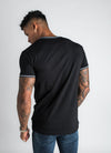 GK Signature Tipped T-Shirt - Black/White