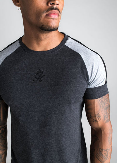 GK Contrast Core Plus T-Shirt - Charcoal Marl/Grey Marl
