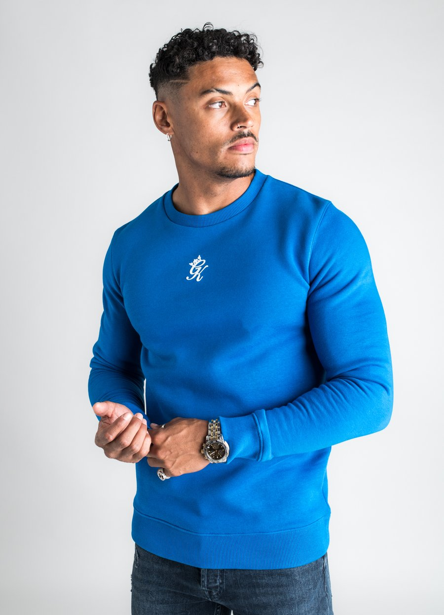 GK Basis Crew Neck Sweatshirt - Cobalt