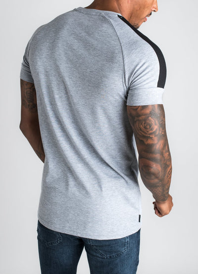 GK Core Plus T-Shirt - Grey Marl/Black