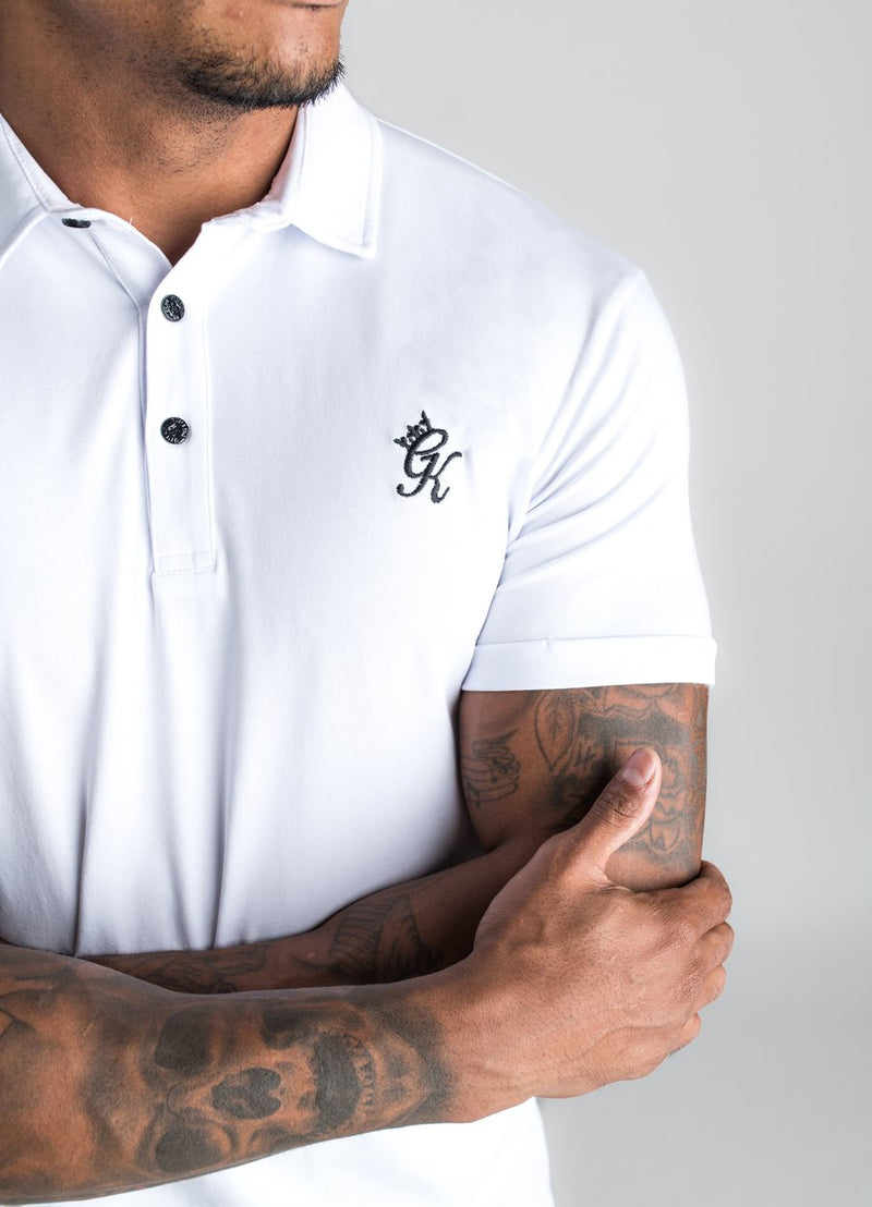 GK Shortsleeve Jersey Polo Shirt - White