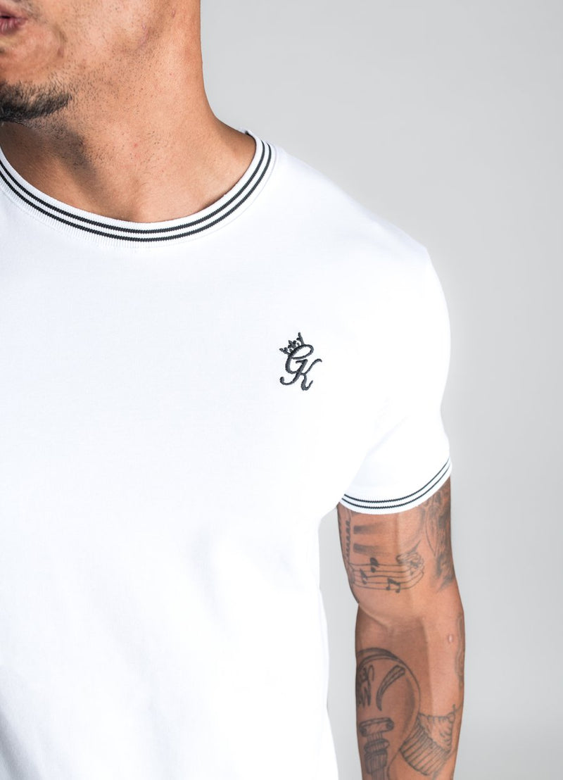 GK Signature Tipped T-Shirt - White/Black