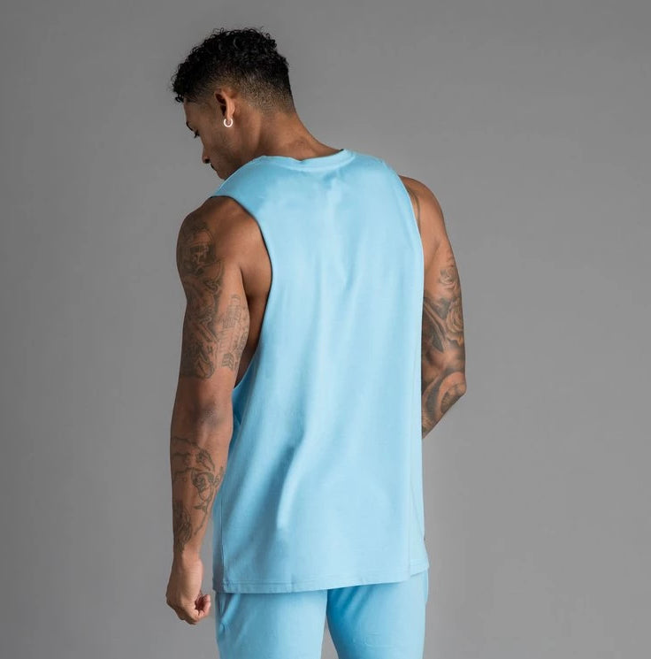 GK Stern Jersey Vest - Light Blue