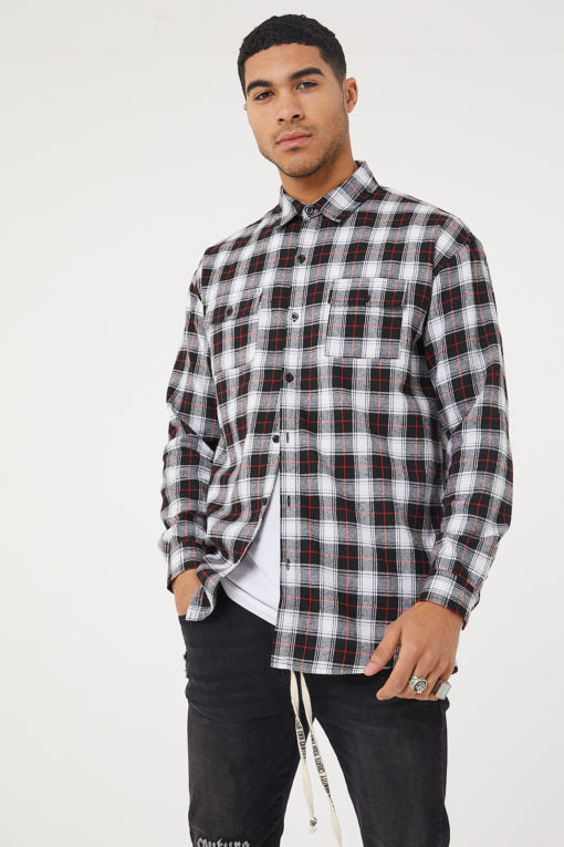 Check Shirt Black/White