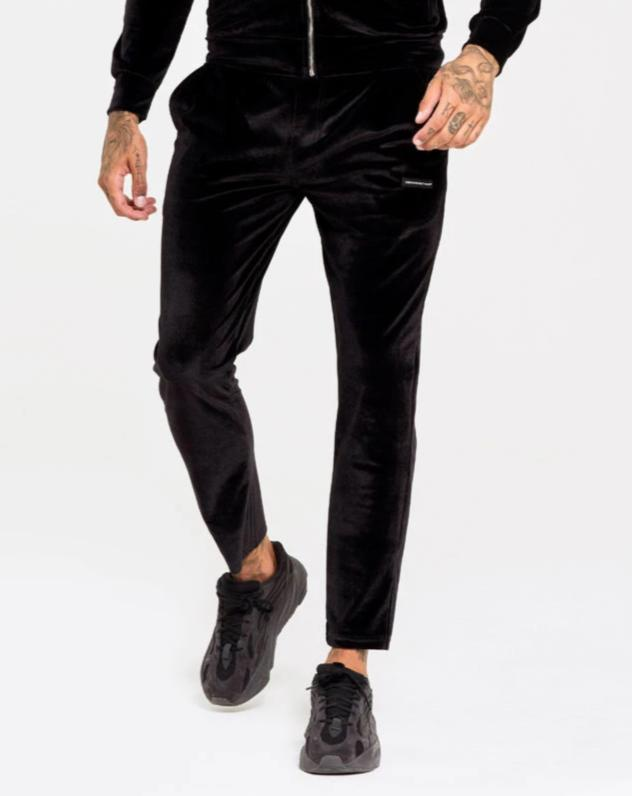 Velour joggers in black - ZANMODA