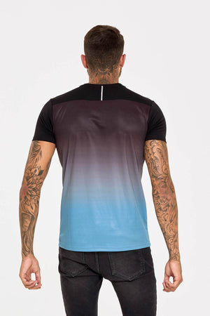 Tech Ombre Blue T-shirt - ZANMODA