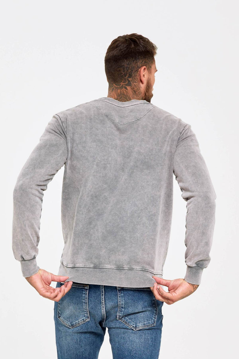 Acid Wash Grey Sweatshirt