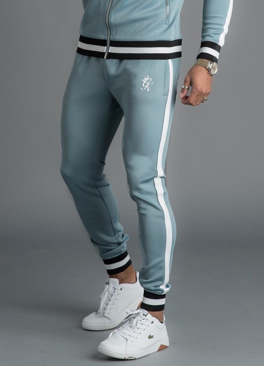 GK Exclusive Retro Tipped Poly Tracksuit Bottom - Citadel