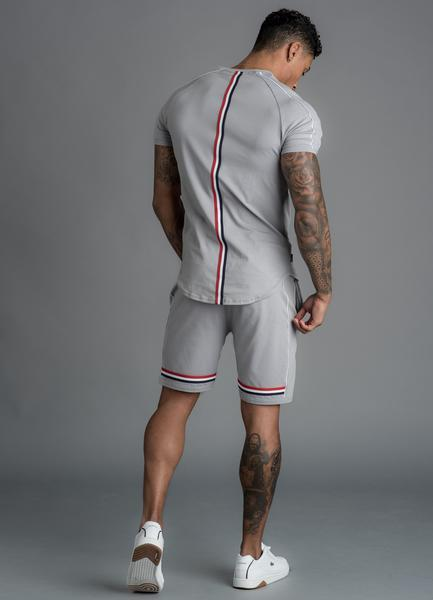 GK Laver Retro Taped Short -Silver Grey