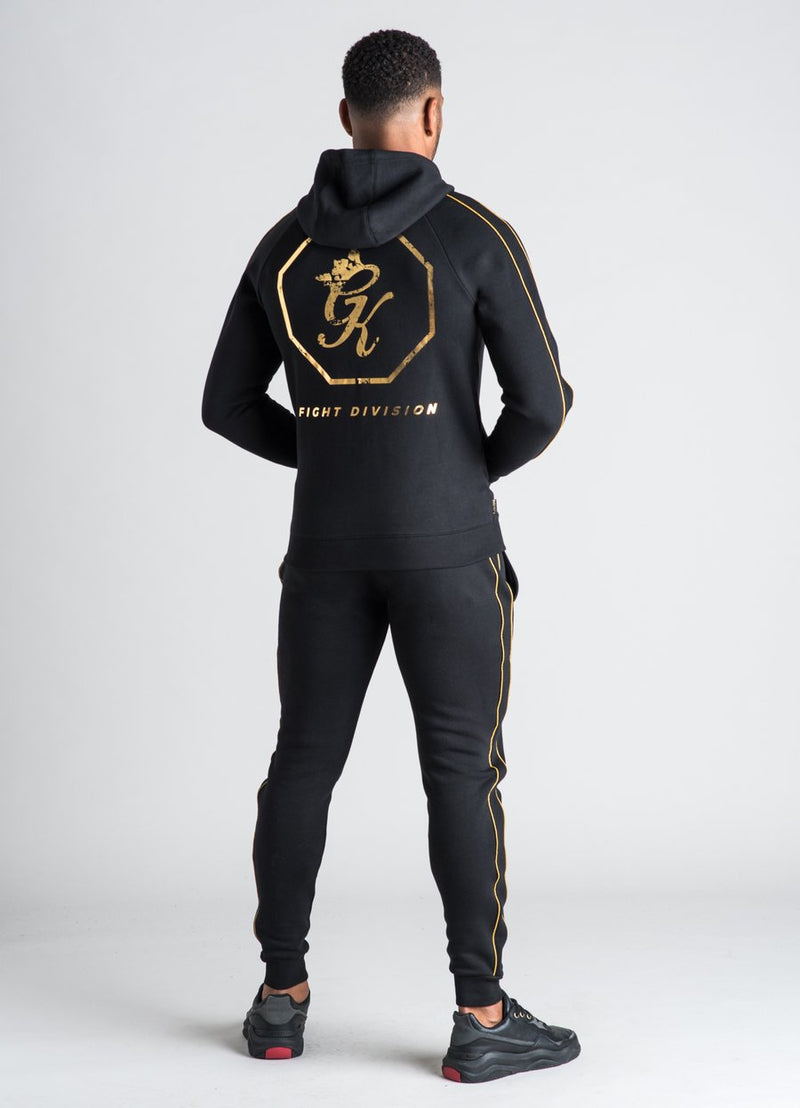 GK Exclusive  Octagon Hoodie Top - BLACK/GOLD