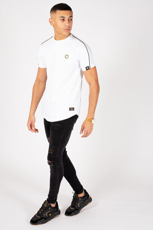 Crest T-Shirt in White - ZANMODA