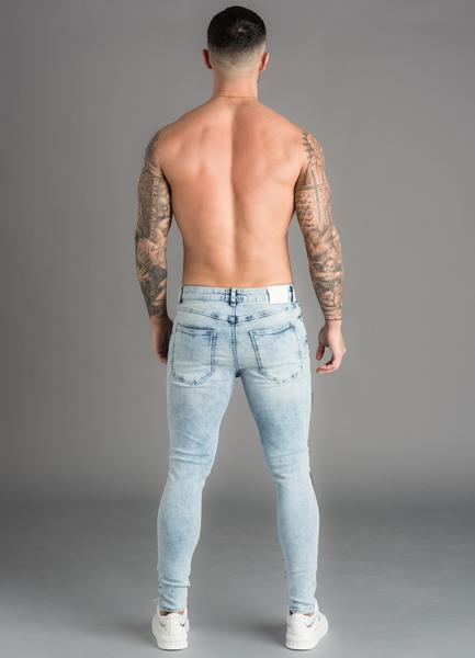 GK Denim Distressed Skinny Jean-Light Acid Wash