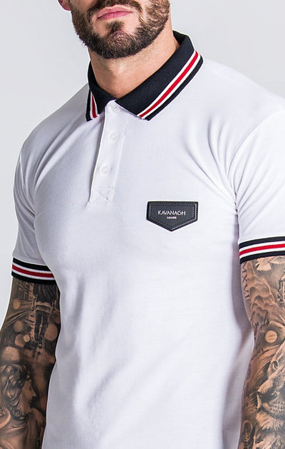 White Polo With Personalized Rib