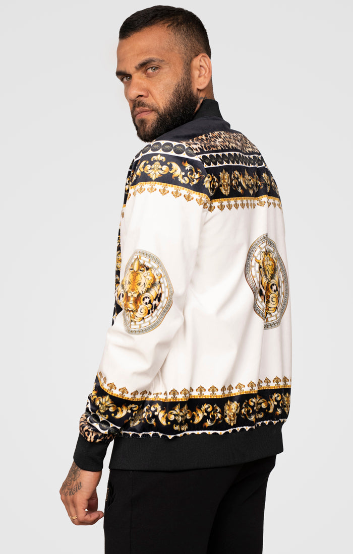 SikSilk x Dani Alves Bomber Jacket - Black, Off White & Gold