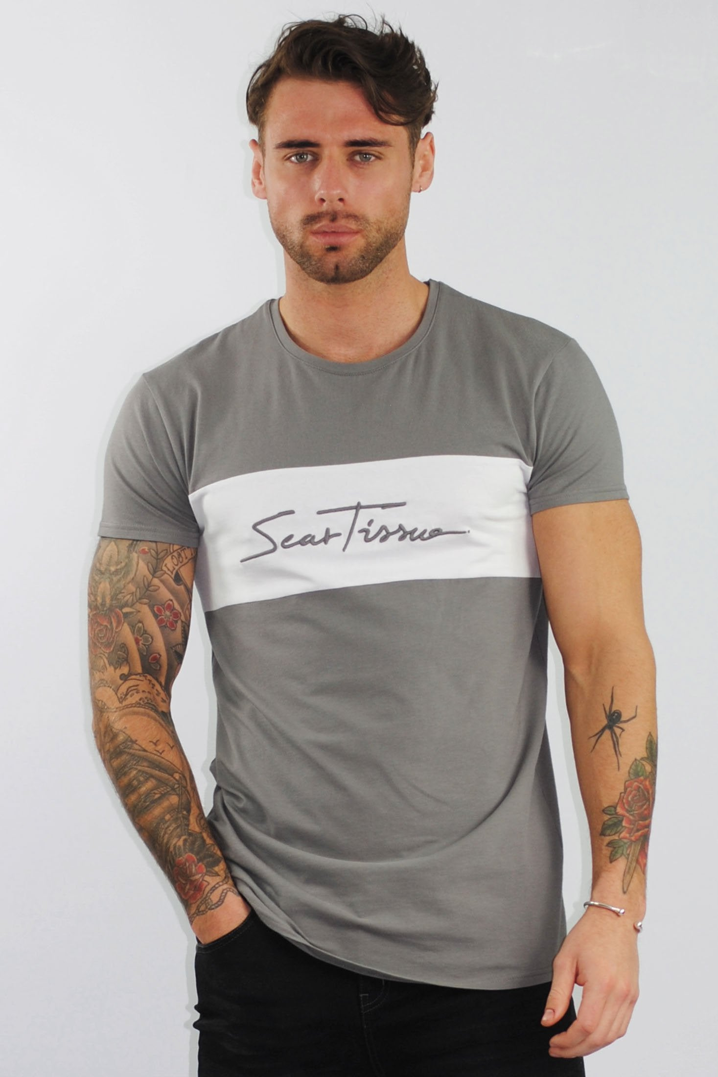 Scar Tissue Panel Signature T- shirt (GREY)