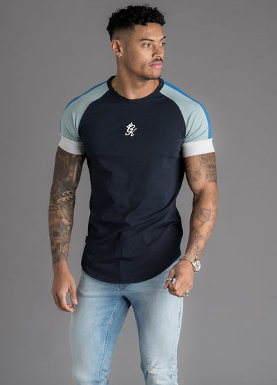 GK Ali T-Shirt - Navy Night/Light Blue/White