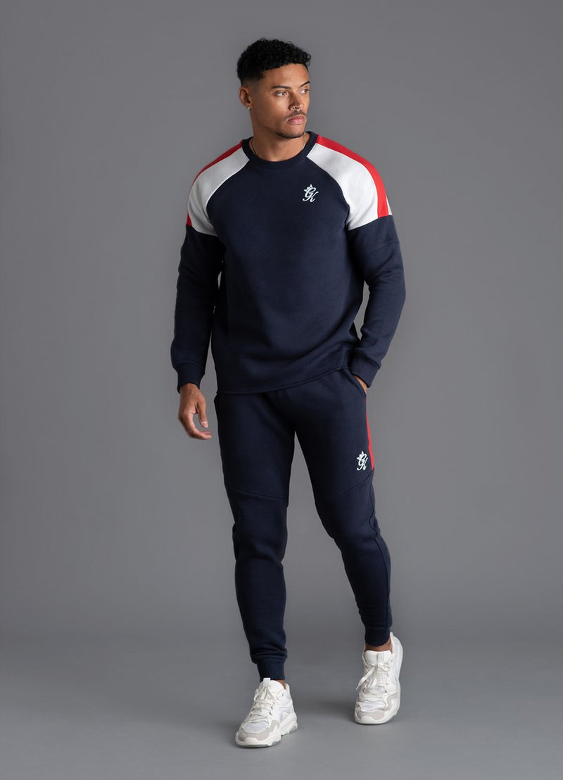 GK Core Plus Contrast Sweatshirt - Navy Nights/Microchip