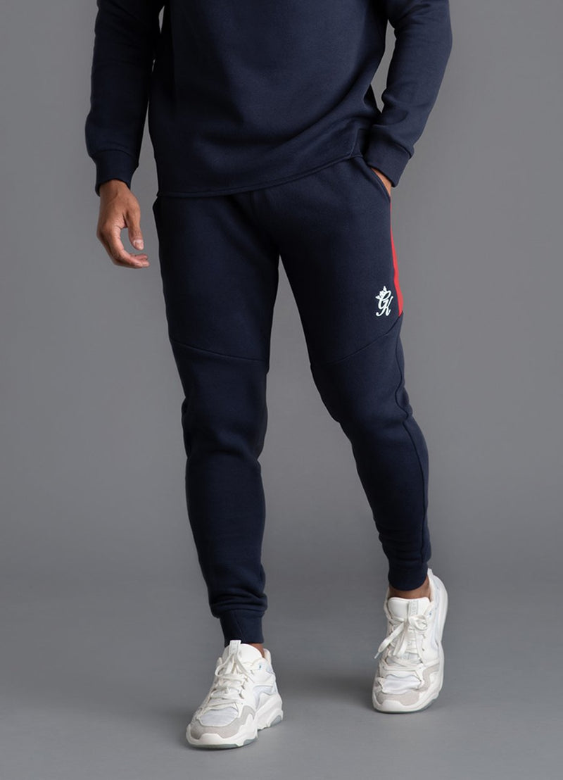 GK Core Plus Contrast Tracksuit Bottoms - Navy Nights/Microchip