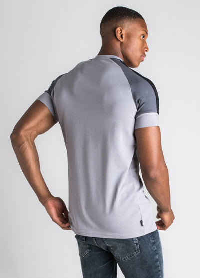 GK Core Plus Contrast T-Shirt - Silver  Grey/Dark Grey/Black