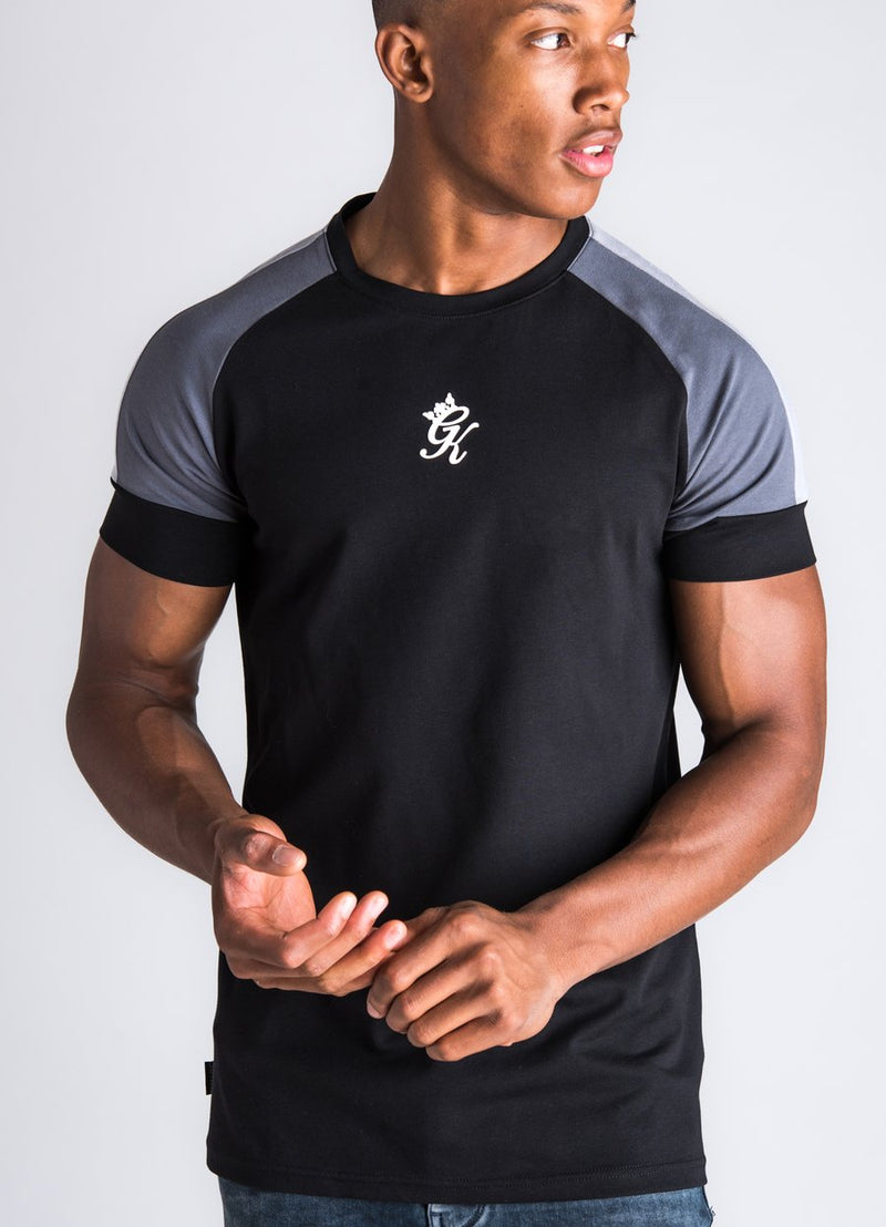 GK Core Plus Contrast T-Shirt - Black/Dark  Grey/Silver Grey