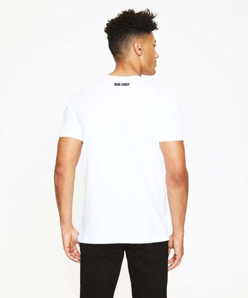 White T-Shirt with Muhammad Ali Print