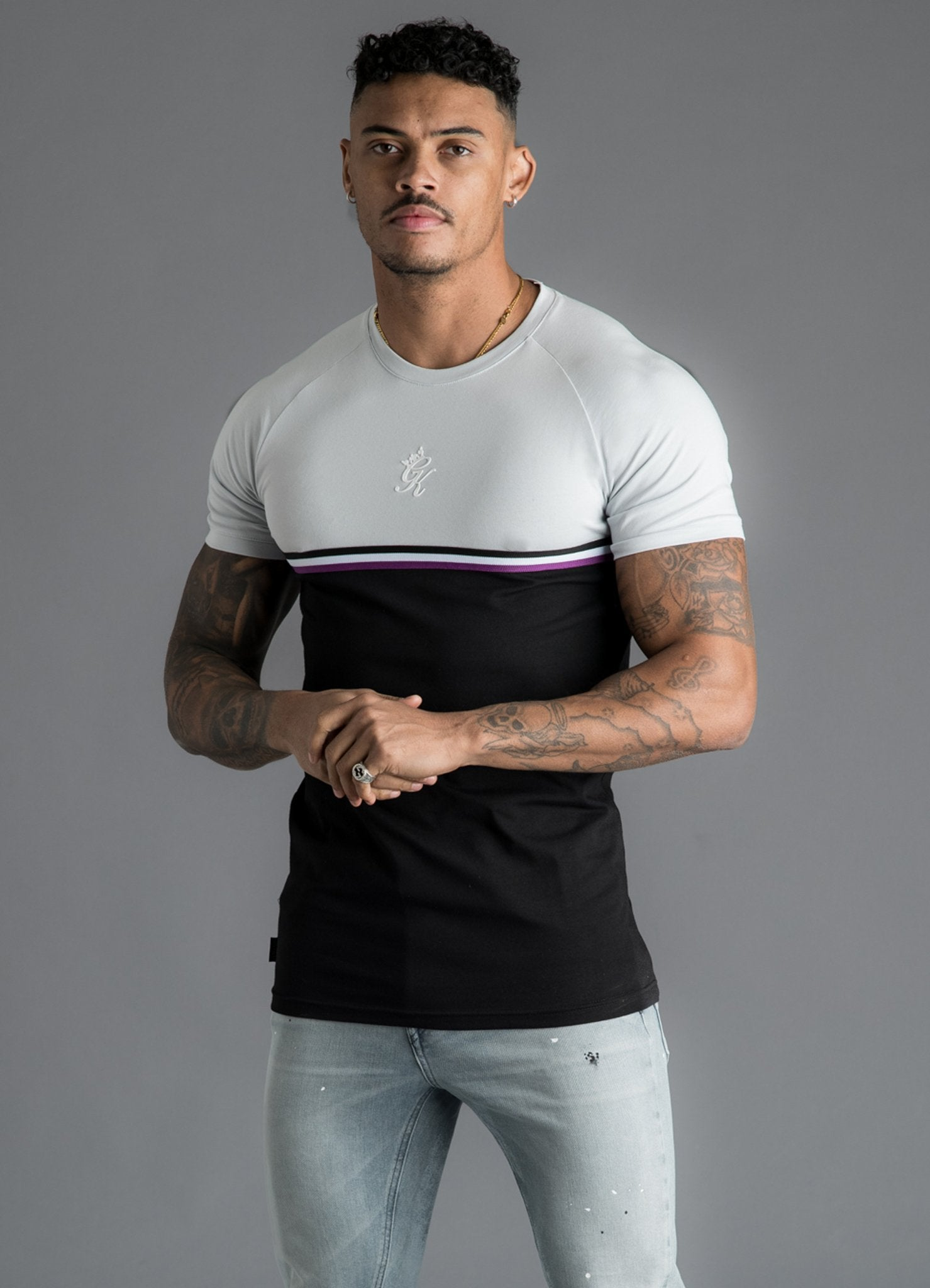 GK Gilchrist T-Shirt - Microchip/Black/Purple
