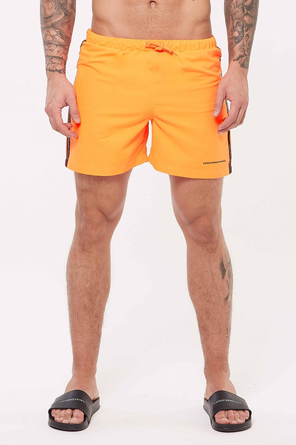 Future Orange Swim Shorts - ZANMODA