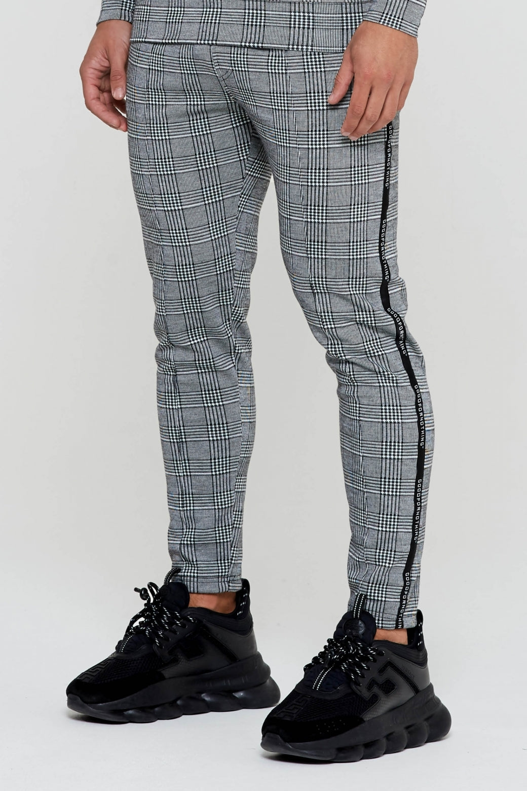 Prince Of Wales Cropped Trouser - ZANMODA