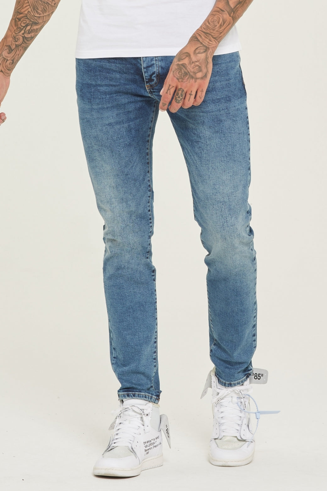 Slim Fit Blue Denim Jeans - ZANMODA