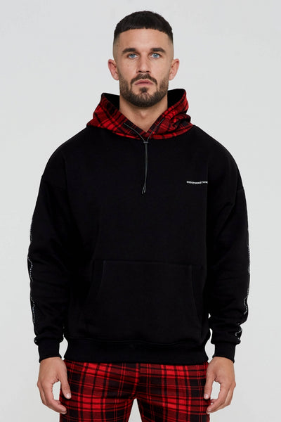 Titus Oversized Check Hoodie