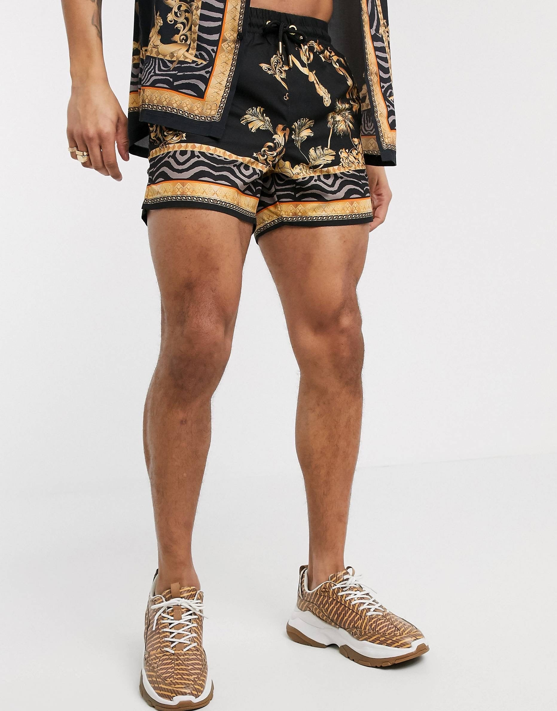 SikSilk Standard Swim Shorts – Ocean Black - ZANMODA