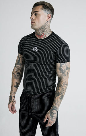 Dani Alves Curved Hem Gym Tee – Black & White - ZANMODA
