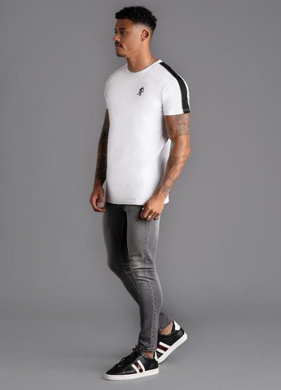 GK Jones Piped T-Shirt -White/Black